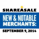 New & Notable Merchants: September 9, 2014