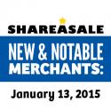 New & Notable Merchants: January 13, 2015