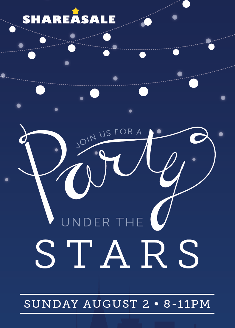 shareasale under the stars party get your invitation shareasale