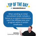 Tip of the Day: Affiliate Recruitment
