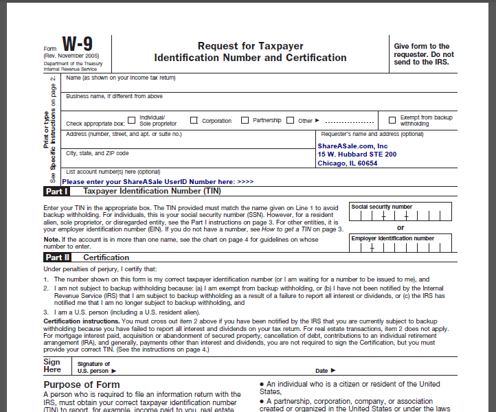 How do I submit a W-9 Form? - ShareASale Blog