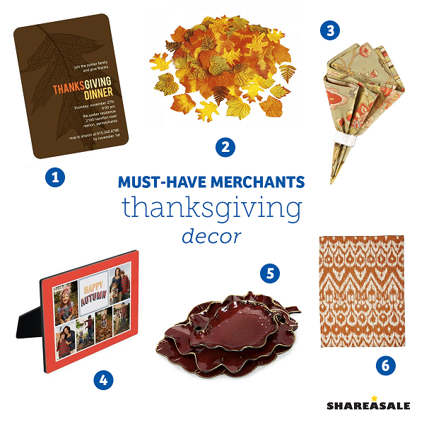 Must have merchants thanksgiving decor shareasale blog - Thanksgiving decorations on sale ...