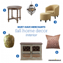 Must-Have Merchants: Fall Interior Home Decor