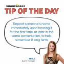 Tip of the Day: Remembering Names