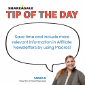 Tip of the Day: Newsletter Macros