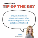 Tip of the Day: Deals Database RSS Feeds