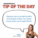 Tip of the Day: Business Cards