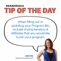 Tip of the Day: Program Bio