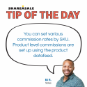 Tip of the Day: Set Product Level Commissions