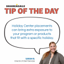 Tip of the Day: Holiday Center Program Boost
