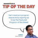 Tip of the Day: Program Boosts – Featured Program of the Week