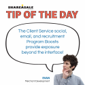 Tip of the Day: Client Services Program Boosts
