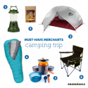 Must-Have Merchants: Camping Trip