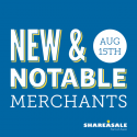New & Notable Merchants: August 15, 2017