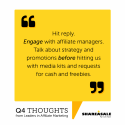 Q4 Thoughts: Talk Strategy Before Cost or Freebies