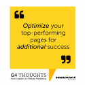 Q4 Thoughts: Optimize Your Top-Performing Pages