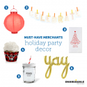 Must-Have Merchants: Holiday Party Decor