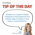 Tip of the Day: Find Relevant Sales for Your Blog with our Coupon & Deals Database