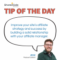 Tip of the Day: Build a Relationship with your Affiliate Manager
