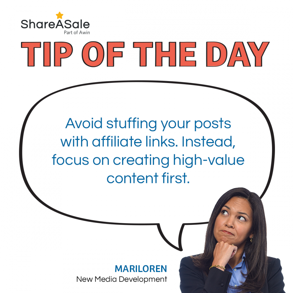 TOTD: Avoid Stuffing your Blog Post with Affiliate Links