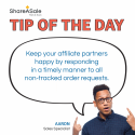 Tip of the Day: Respond quickly to non-tracked orders
